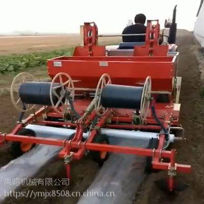 禹鸣2CM-2土豆覆膜播种机双垄双行电子震动播种带滴灌马铃薯种植一体机
