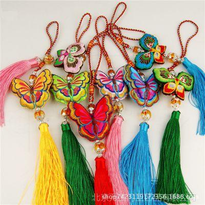 新品 刺绣蝴蝶结小香包 香袋 特色工艺品礼品出国旅游送老外