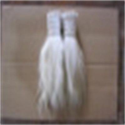 供应单齐白色30-50cm马鬃毛