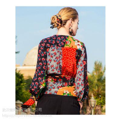 四五线城市卖服装到那里拿货樱花季节小格子大摆裙
