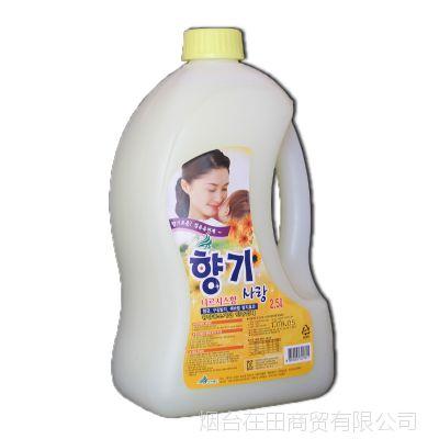 韩国进口正品衣物柔顺剂 天然提取无刺激去静电2.5L 无损伤衣物