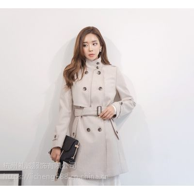 魅之女杭州尾货衣服批发市场在哪里批发市场 品牌折扣女装尾货批发价格浅蓝色连衣裙