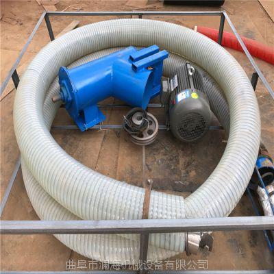汽油牛津软管吸粮机粮食自动装车机 崂山双节加长管式抽粮机