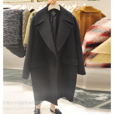 便宜毛呢外套韩版时尚呢子大衣清货中长款双面尼大衣羊绒大衣清货