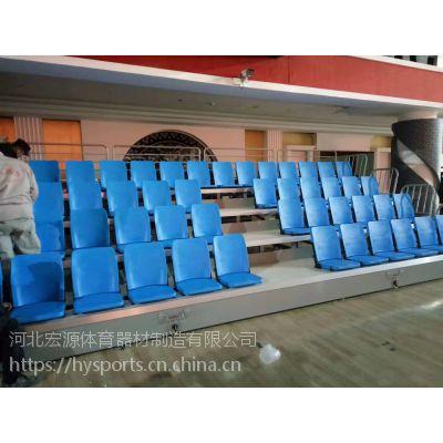 场馆座椅伸缩看台手动伸缩电动伸缩固定场馆看台