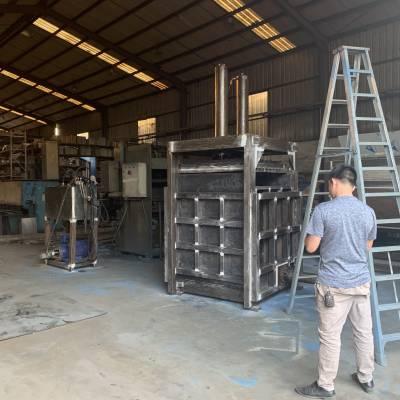 热卖塑料、布匹、编织袋20吨卧式液压打包机 玉米芯立式打包机