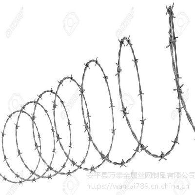 刺绳网i型号 不生锈刺绳 双股拧刺丝网