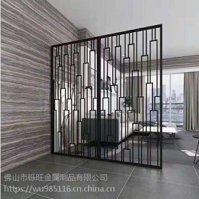 镂空不锈钢格栅屏风客厅卧室玄关隔断花格现代简约背景墙中式装饰