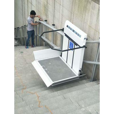 老年人爬楼电梯 轮椅斜挂式升降平台 启运轨道曲线无障碍平台 张家港市直销