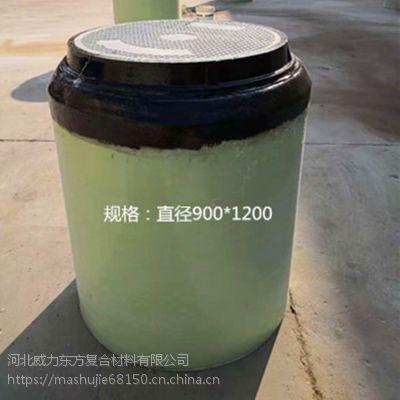地埋人孔井直径900*1200一体成型坚固不老化的成品人孔井