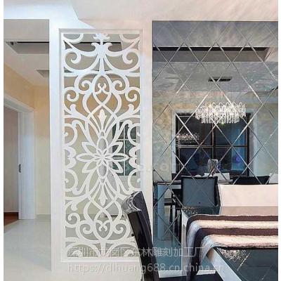 装修设计公司必备现代新型装饰板波浪板雕花隔断板浙江厂家定制