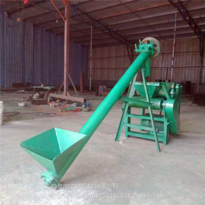 漳州东山药材粮食抛粮机热销厂家宏瑞定做小型移动式抛粮机