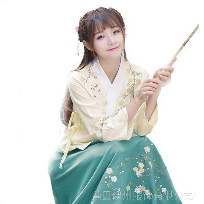 中国风女装唐装古风衣服交领齐腰襦裙日常改良汉服女古装服装促销