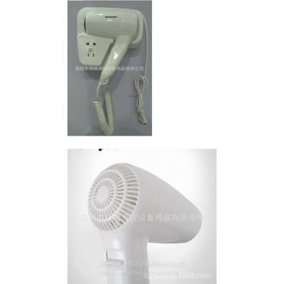 厂家直销恒迅挂墙式吹风机D01A 酒店挂墙吹风机1200w 带充电插座