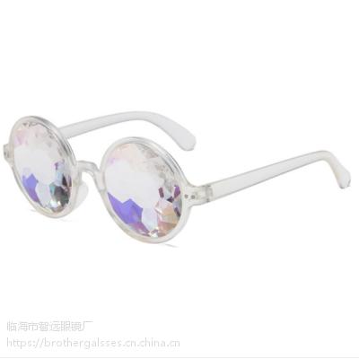 跨境专供欧美潮流纸醉金迷万花筒眼镜搞怪夜场表演音乐会专用墨镜