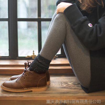 一件代发秋冬新款女靴子真皮牛筋大底马丁靴女短靴子沙漠靴女鞋子