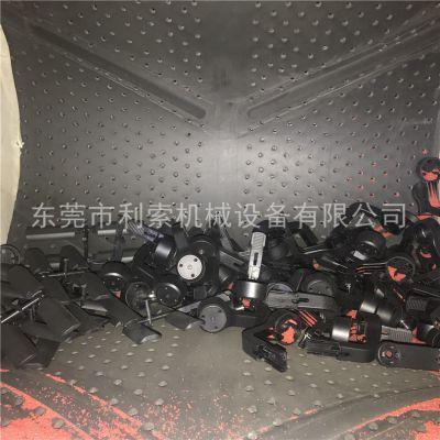 脆性塑胶制品履带式无气自动喷砂机