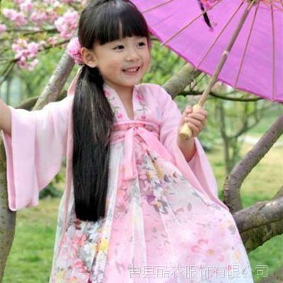 古装服装女童装衣服樱花小萝莉汉服齐胸襦裙少儿装女童连衣裙儿童