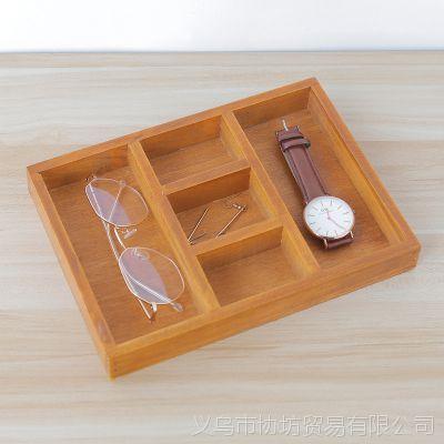 zakka木盒家居用品木质复古首饰收纳盒 化妆品桌面收纳盒储物盒