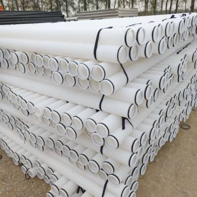 HDPE双壁波纹管 PE波纹管 白色波纹管 110波纹管厂家直销