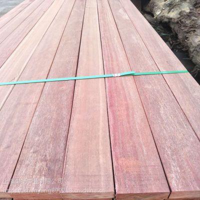 上海板材供应商 红梢木防腐木板材价格 印尼红梢木圆柱