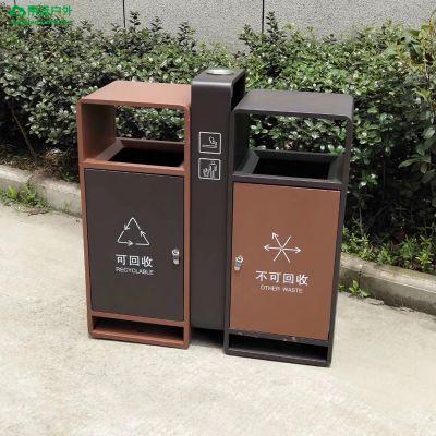 青蓝-金属垃圾桶生产厂家 可自定义随心定制 市政钢制环卫桶 分类垃圾箱