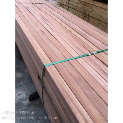 红巴劳 流美木业 园林古杂建材料 定尺加工