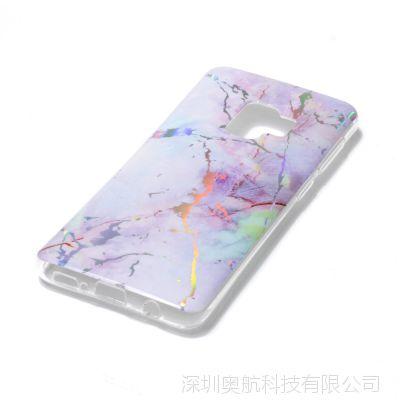 三星Galaxy S9手机壳 S9Plus 大理石彩镀PU手机保护套
