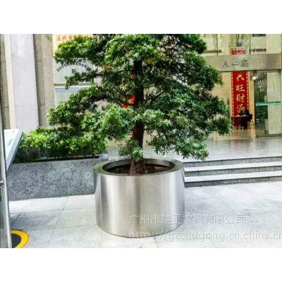 成品不锈钢移动花箱-各种造形304不锈钢花盆花器