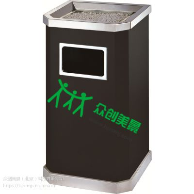 酒店大堂大理石垃圾桶不锈钢仿大理石垃圾桶宾馆KTV立式烟灰桶 众创美景