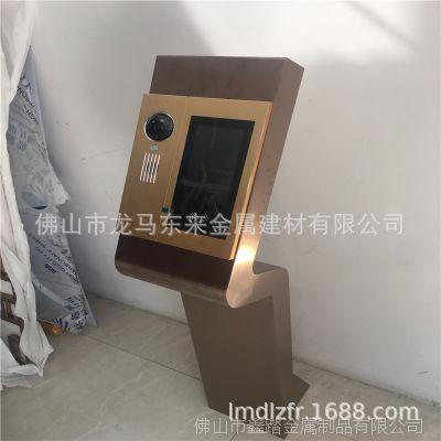 广东小区门口机不锈钢立柱 可视对讲机主机座新款上市