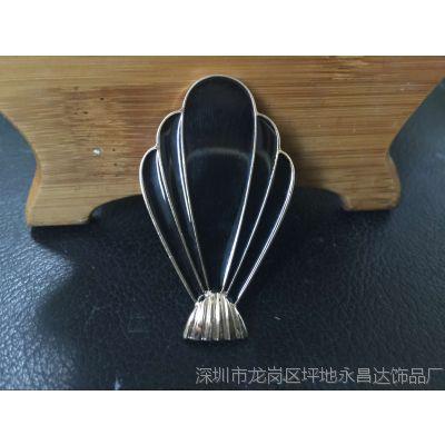 厂家定制女士服装配件金属腰带扣,珐琅皮带金属扣头
