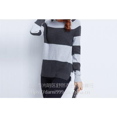 秋冬韩版女装毛衣针织衫 库存中长款开衫外套地摊杂款毛衣