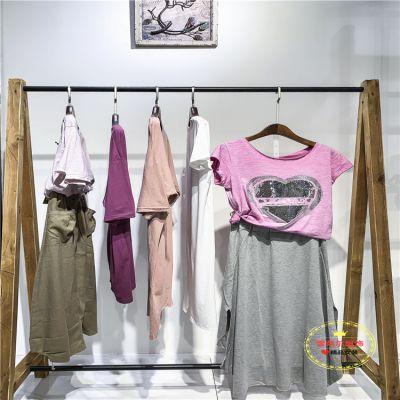 19年新款品牌超燃吊带连衣裙广州大码女装尾货特价清仓多种面料新款组货包