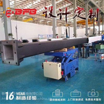 供应安全过跨地爬车 63T电动平板车 灯具厂定制模具运输轨道平车