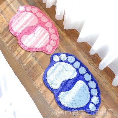 1390脚丫浴室垫子门口脚垫 卧室地垫厕所门垫 脚踏垫卫生间防滑垫