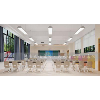 郑州小学装修设计-找河南天恒装饰-海龙学校装修成功案例欣赏