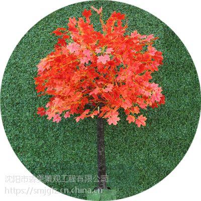 可以拆分仿真树红枫树樱花树真绿植榕树椰子树绿色植物墙仿真植物场景道具