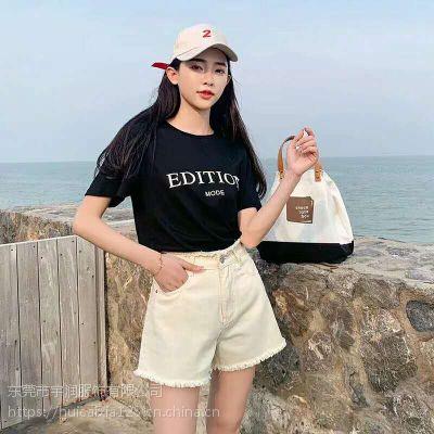 直播秒杀外贸杂款牛仔短裤 广西哪里有便宜好看低至15块钱质量保证的韩版牛仔批发
