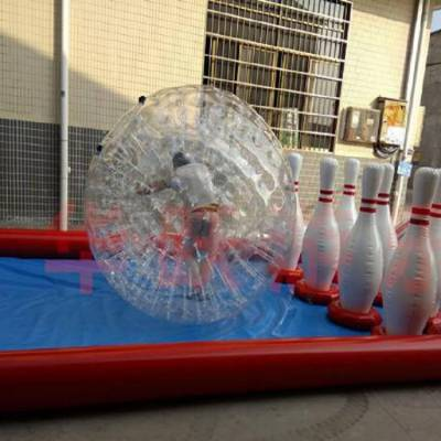 心悦游乐适合冬季雪地玩的充气保龄球游乐设备玩具
