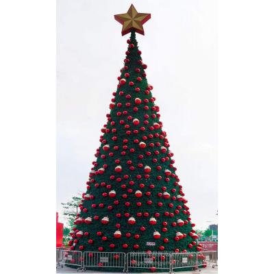 圣诞工厂2018新款15米发光浪漫爱心led灯光音乐户外大型圣诞树