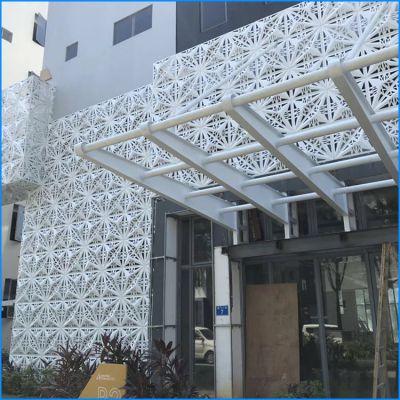 室外氟碳铝单板定制厂家,设计雨棚使用铝单板。