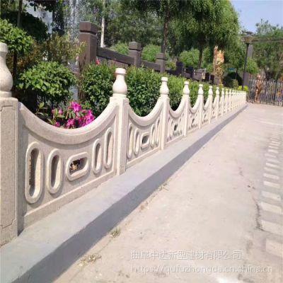 厂家现货出售水泥仿石栏杆 景区仿青石栏杆 河道装饰的石头护栏