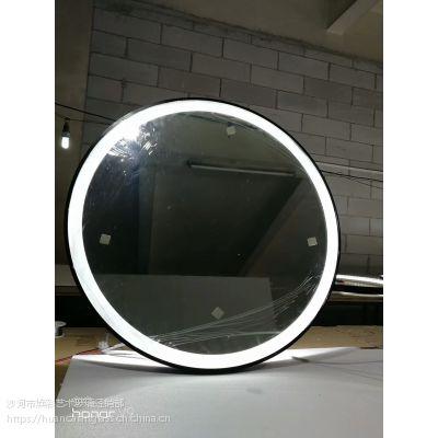 厂家直销圆形led化妆镜 浴室镜 防雾镜 酒店工程 触摸浴镜