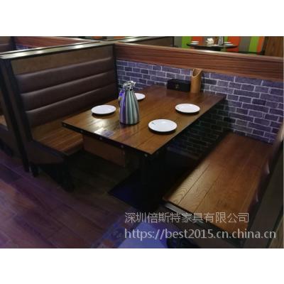 倍斯特简约现代贴瓷砖餐桌创意中餐湘菜烧烤店厂家定制