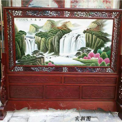 景德镇陶瓷瓷板画名家手绘粉彩百子图陶瓷画客厅玄关挂壁画私人定
