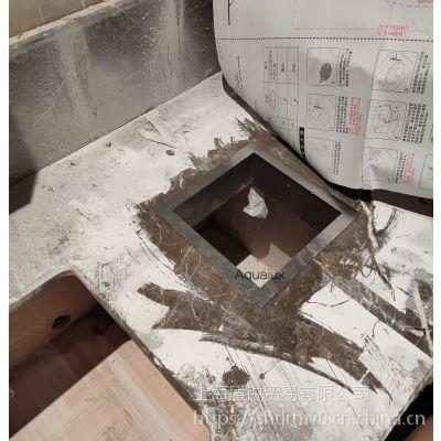不锈钢台面垃圾投放口商场洗手间台面安装