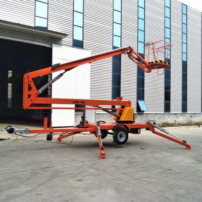 工厂直销车载式升降平台 18米拖车折臂式液压升降机 旋转式高空作业车
