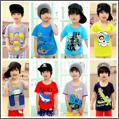 马来西亚哪里有童T恤批发夏款童装批发男童短袖衫中大童韩版休闲短袖T恤厂家直销