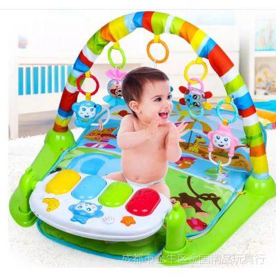 婴幼儿益智早教音乐健身架 新生儿遥控脚踏琴 0-18个月宝宝玩具